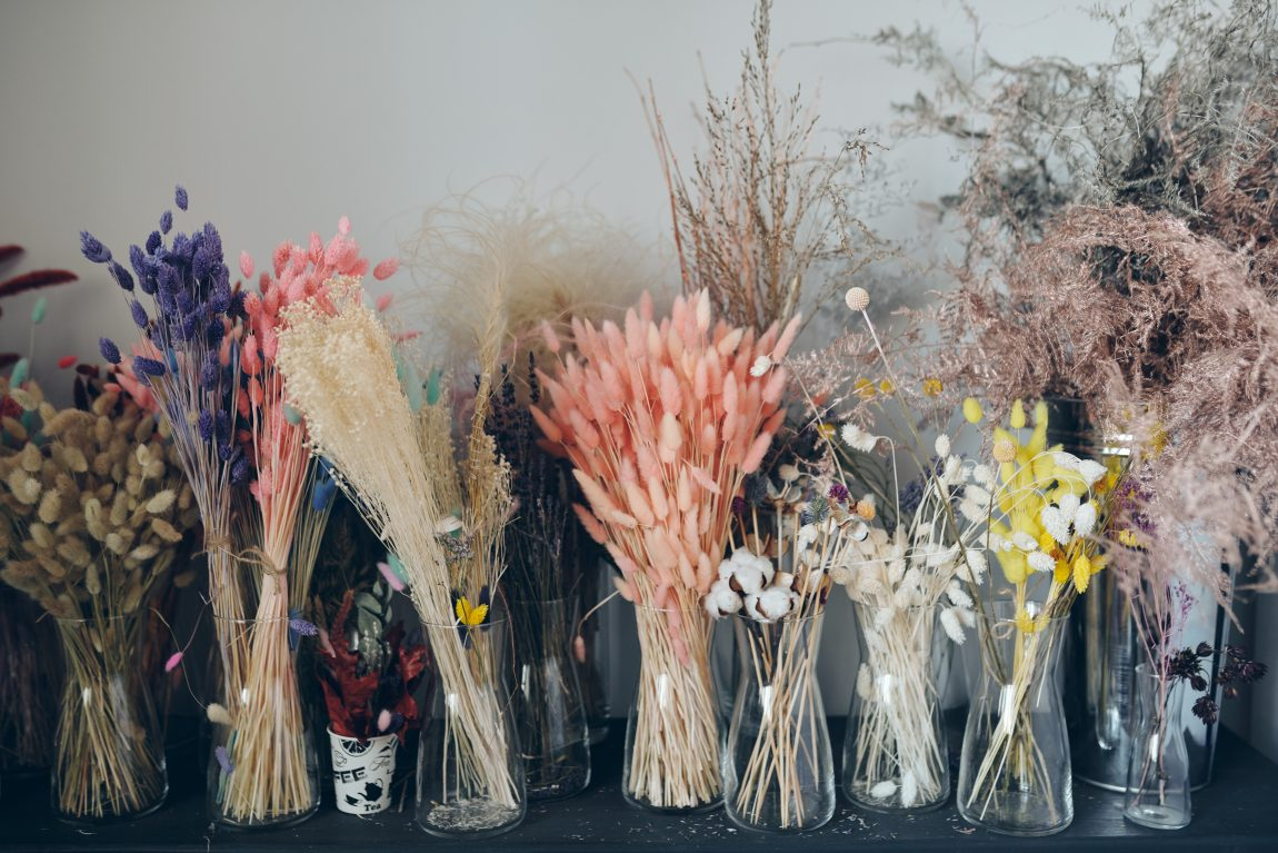 DIY Fall Dried Flower Bar