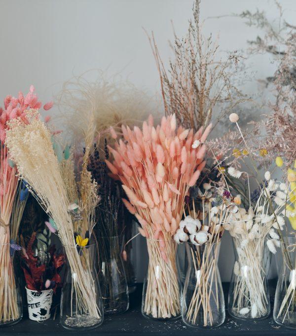 DIY Fall Dried Flower Bar