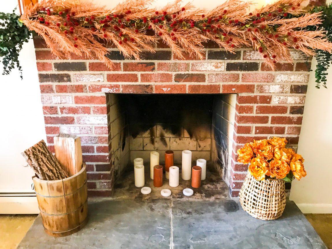 Fireplace Holiday Decor
