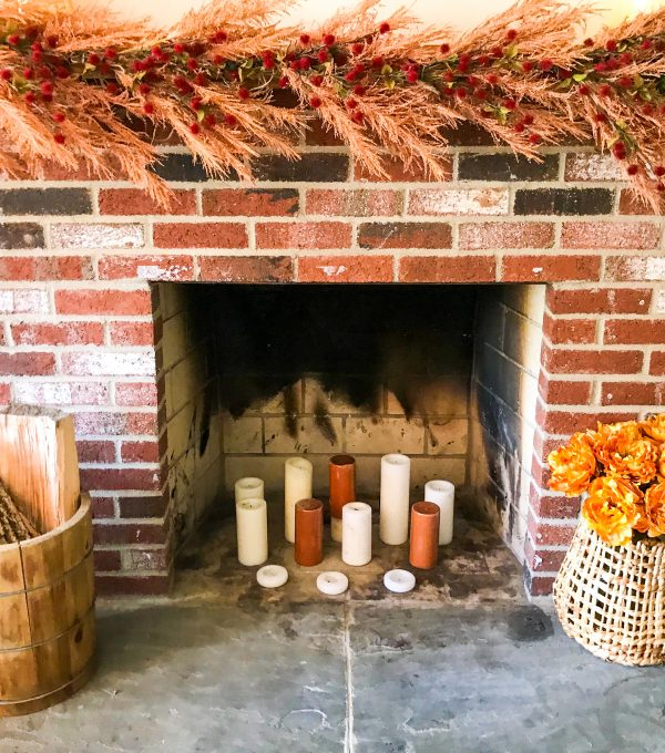 Fireplace Holiday Decor