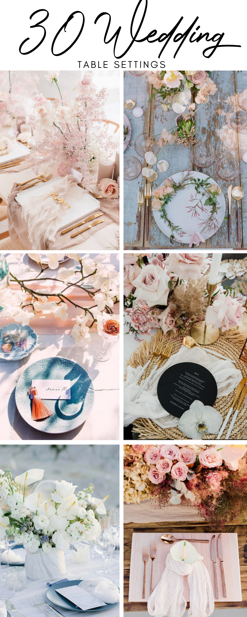 30 Wedding Table Settings