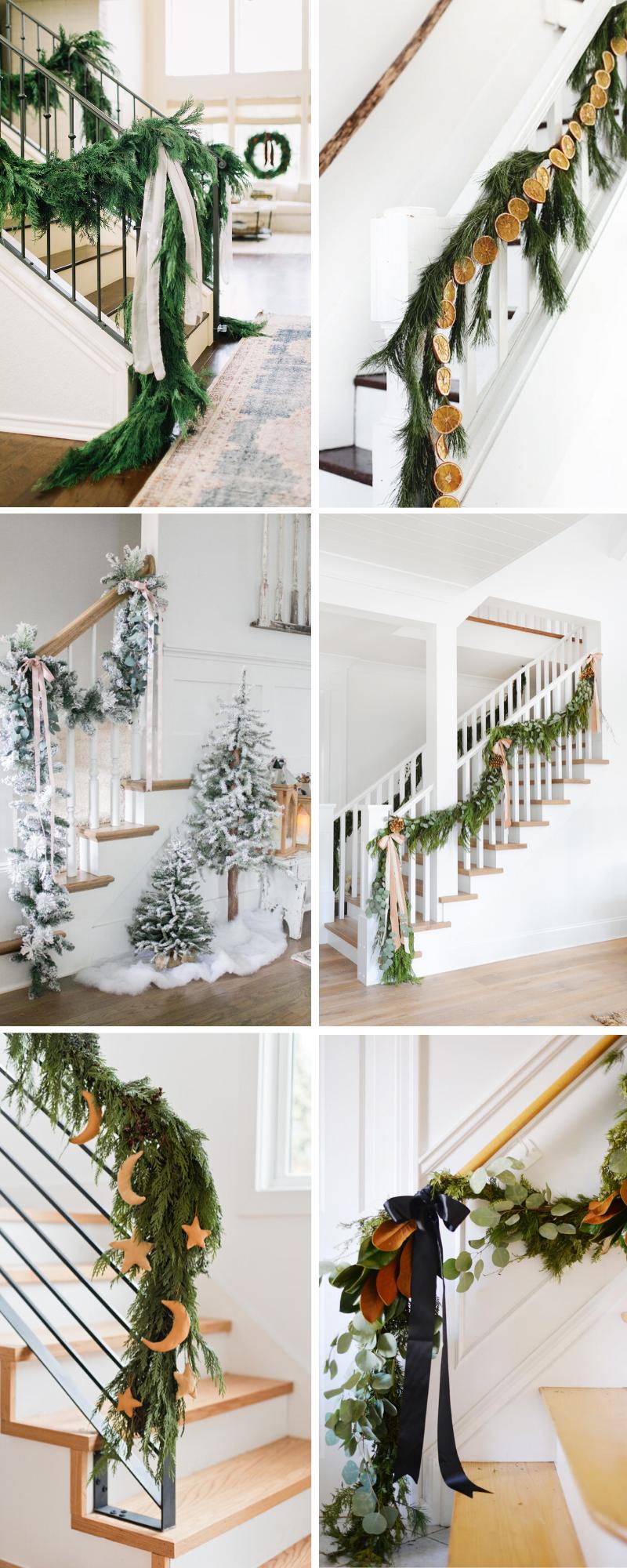 Christmas Garland Staircase