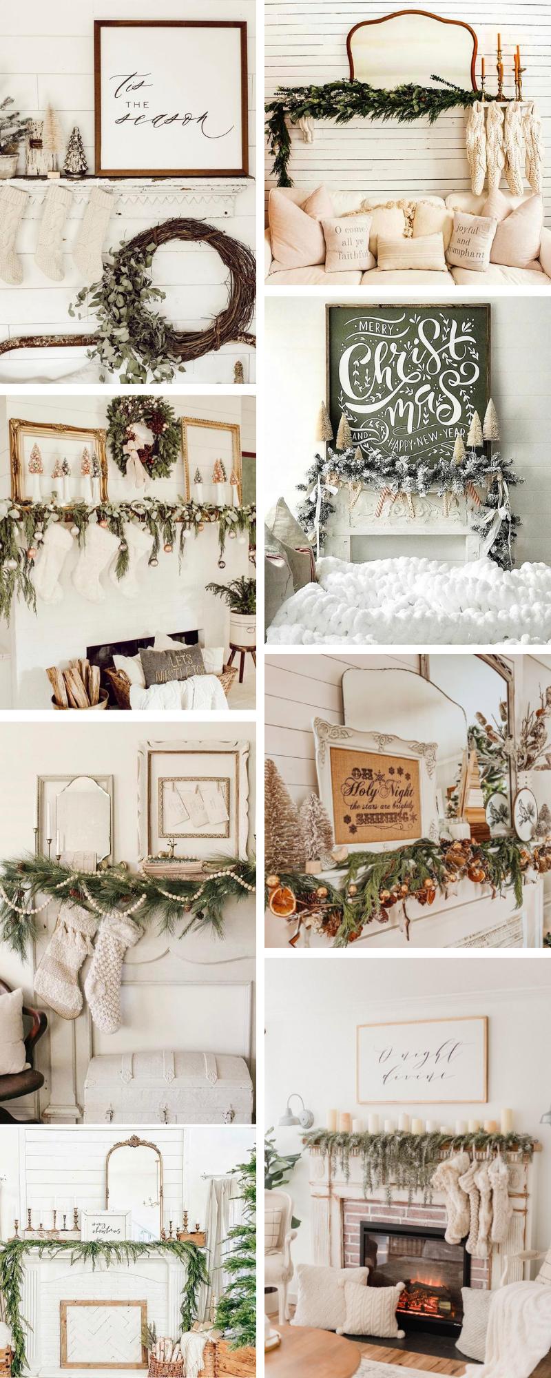 Farmhouse Christmas Mantel Decor